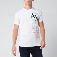 Armani Exchange Men's Vertical Logo T-Shirt - White - L