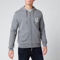 Armani Exchange Men's Zipped Ax Hoodie - Grey - L