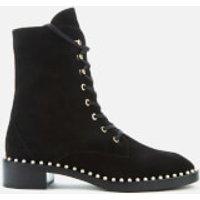 Stuart Weitzman Women's Sondra Suede Lace-Up Boots - Black - UK 6