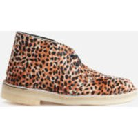 Clarks Originals Women's Pony Hair Desert Boots - Leopard Print - UK 4