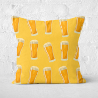Beers Square Cushion - 40x40cm - Soft Touch