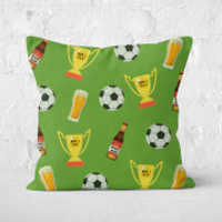 Football Fan Square Cushion - 60x60cm - Soft Touch