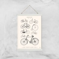 Bicyclettes Giclee Art Print - A3 - White Hanger
