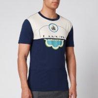 Lanvin Men's Colour Block T-Shirt - Navy Blue - XL
