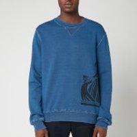 Lanvin Men's Side Logo Sweatshirt - Navy Blue - L