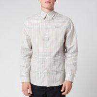 Lanvin Men's Checkered Shirt - Blue/Green - 41/XL