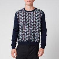 Lanvin Men's Wool Knit Jumper - Navy Blue - S