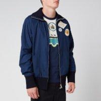 Lanvin Men's Zipped Patch Jacket - Navy Blue - IT 48R