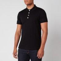 Balmain Men's Embossed Polo Shirt - Black - XXL