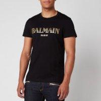 Balmain Men's Vintage Logo T-Shirt - Black/Gold - XL