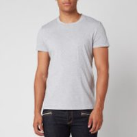 Balmain Men's Embossed Sleeve T-Shirt - Grey - L