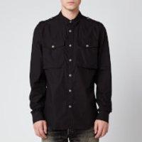 Balmain Men's Gabardine Shirt - Black - 40/L