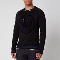 Balmain Men's Coin 3D Sweatshirt - Black/Blue - S