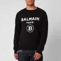 Balmain Men's Flock Sweatshirt - Black/White - XL