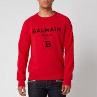 Balmain Men's Flock Sweatshirt - Red/Black - XL