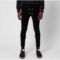 Balmain Men's Monogram Jacquard Velvet Sweatpants - Black - L