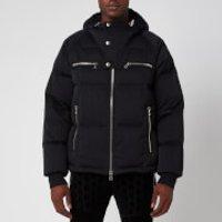 Balmain Men's Hooded Nylon Down Jacket - Black - 46/XS