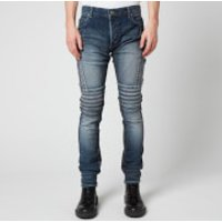 Balmain Men's Slim Biker Jeans - Blue - W34