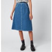 KENZO Women's Knee Length Denim Skirt - Midnight Blue - UK 10/EU 40