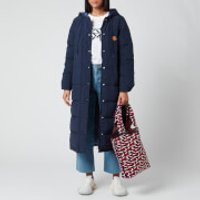 KENZO Women's Elongated Puffer Reversible - Navy Blue - L