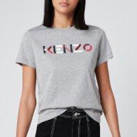 KENZO Women's Classic Fit T-Shirt KENZO Logo - Pearl Grey - S
