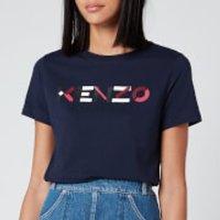 KENZO Women's Classic Fit T-Shirt KENZO Logo - Navy Blue - M