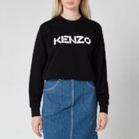 KENZO Women's Classic Fit Sweatshirt KENZO Logo - Black - L
