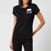 Karl Lagerfeld Women's Ikonic Karl Pocket T-Shirt - Black - S