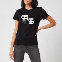 Karl Lagerfeld Women's Ikonic Karl & Choupette T-Shirt - Black - L