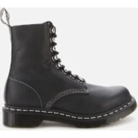 Dr. Martens Women's 1460 Pascal Hdw Virginia Leather 8-Eye Boots - Black - UK 4