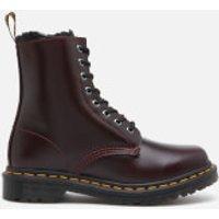 Dr. Martens Women's 1460 Serena Fur Lined Leather 8-Eye Boots - Oxblood - UK 5