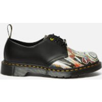 Dr. Martens X Basquiat 1461 Leather 3-Eye Shoes - White/Black - UK 3