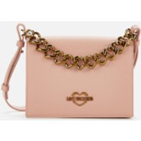 Love Moschino Womens Chain Detail Shoulder Bag - Pink