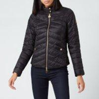 Barbour International Womens Interceptor Quilted Jacket - Black - UK 10