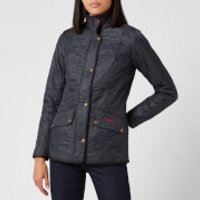 Barbour Womens Classic Beadnell Wax Jacket - Navy - UK 12