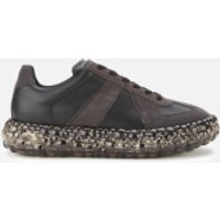 Maison Margiela Men's Replica Caviar Chunky Sole Trainers - Black/Matt Black - UK 7