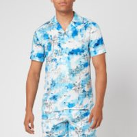 Orlebar Brown Men's Travis Nick Turner Illustration Capri Collar Shirt - Blue - M