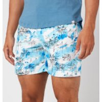 Orlebar Brown Men's Bulldog Nick Turner Illustration Swim Shorts - Blue - W36
