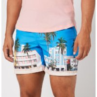 Orlebar Brown Men's Bulldog Photographic Swim Shorts - Ocean Drive - W34