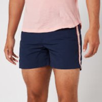 Orlebar Brown Men's Setter Tape Stripe Swim Shorts - Navy/Sundown Pink - W36
