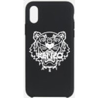 KENZO Men's iPhone X Max Silicone Tiger Phone Case - Black
