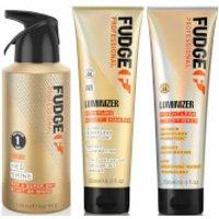 Fudge Professional Luminizer Shampoo, Conditioner and Hed Shine Bundle (Worth PS40.00)