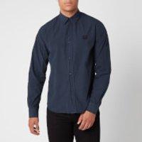 KENZO Men's Tiger Crest Poplin Shirt - Navy Blue - L/16