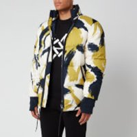 KENZO Men's Camo Puffer Jacket - Lime - L
