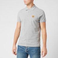 KENZO Men's Tiger Crest Pique Polo Shirt - Pearl Grey - L