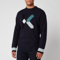 KENZO Men's K Wool Jumper - Navy Blue - S