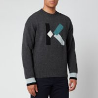 KENZO Men's K Wool Jumper - Dark Grey - M