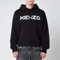 KENZO Men's Bi-Colour Logo Hoodie - Black - XXL