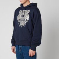 KENZO Men's Stitched Tiger Hoodie - Navy Blue - L
