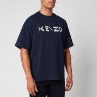 KENZO Men's Multicolour Logo T-Shirt - Navy Blue - S